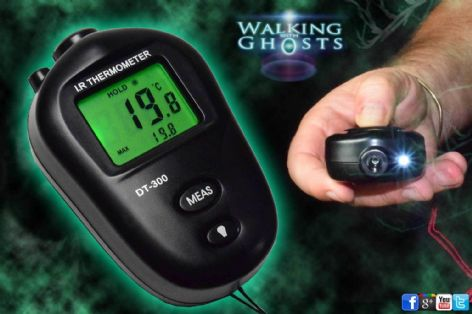 Infrared Backlit IR Thermometer Short Range Cold Spot Paranormal Tool